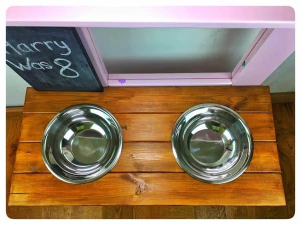 2 bowl play kitchen with chalkboard