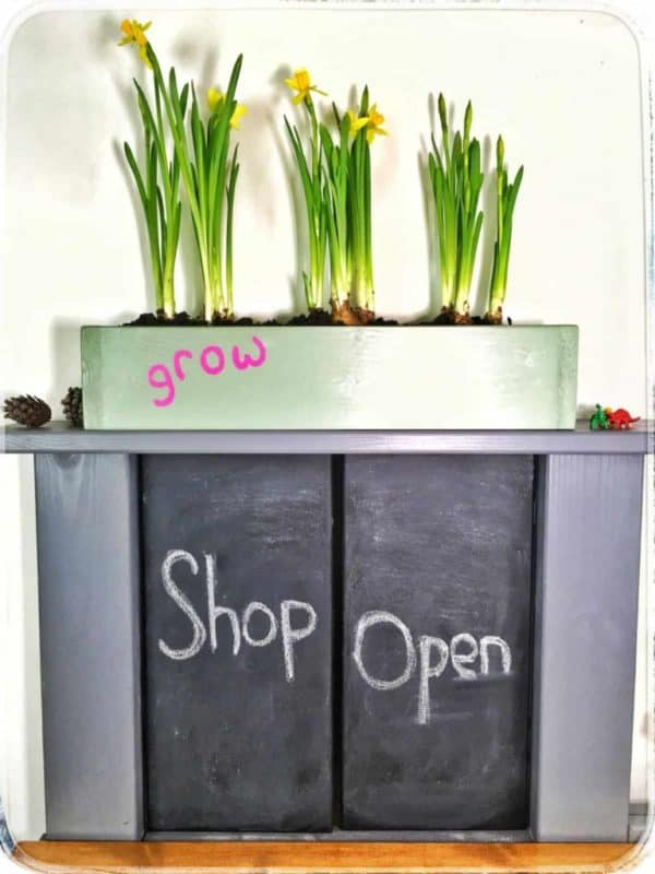 role play shop doors and flowers
