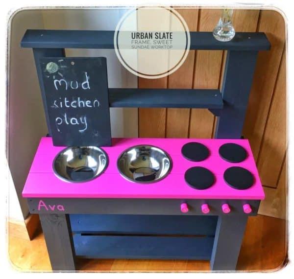 Mud Kitchen Urban Slate Frame and Sweet Sundae Worktop