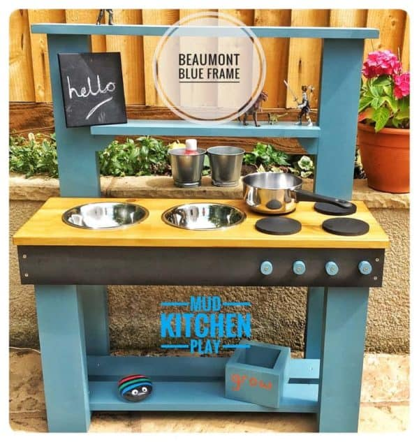 Beaumont Blue Mud Kitchen Outside