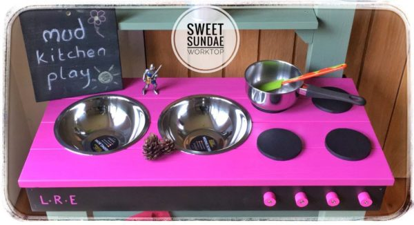 Mud Kitchen with name