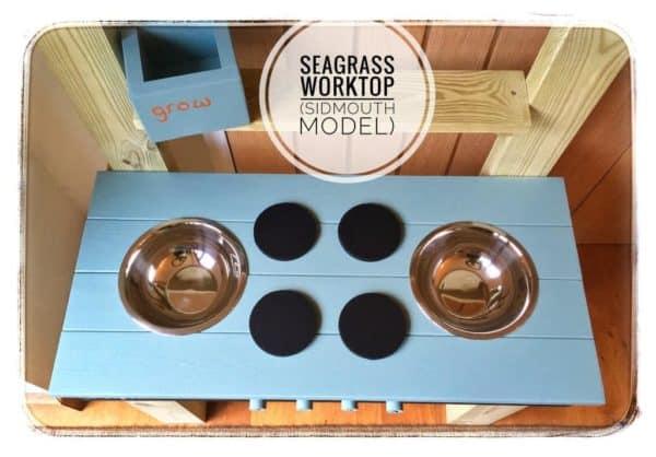 Mud Kitchen worktop in Seagrass